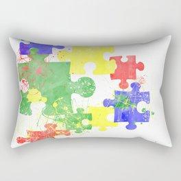 Autism Pieces Rectangular Pillow