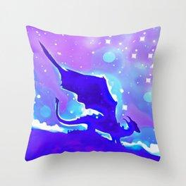 Moon Dragon Throw Pillow