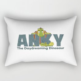 Anky The Daydreaming Dinosaur Rectangular Pillow