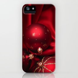 Red Christmas decorations iPhone Case