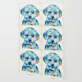 Small Dog Art - Soft Love - Sharon Cummings Wallpaper