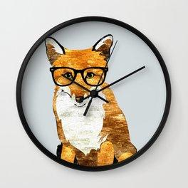Foxy #society6 #animallover #buyart Wall Clock