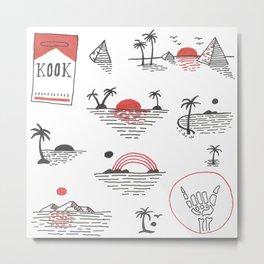 Sunset Kook Metal Print