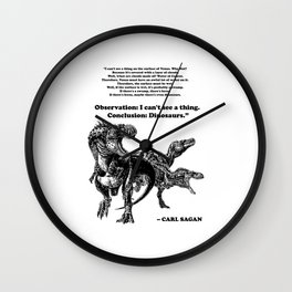 Conclusion: Dinosaurs [Black] Wall Clock