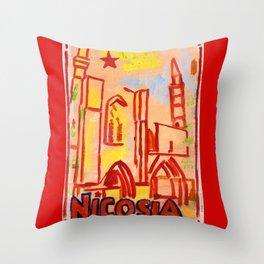 European Capital - Nicosia Throw Pillow