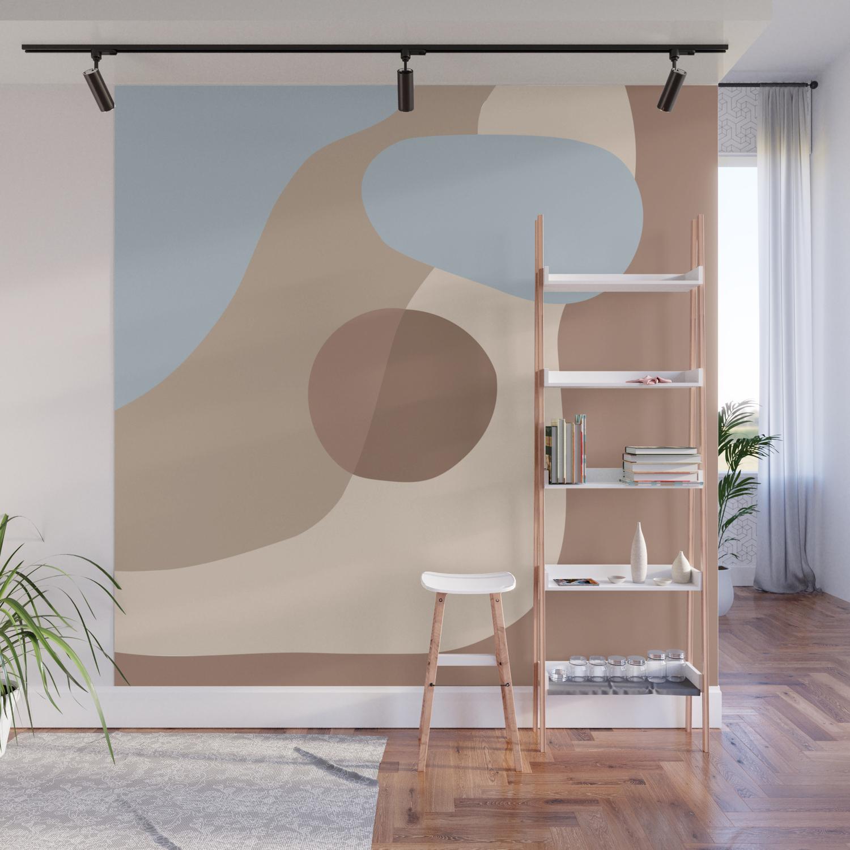 Organic Shapes 1 Wall Mural By Modernretro Society6