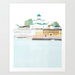 Helsinki oh Helsinki Art Print