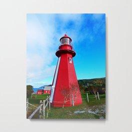 Lighthouse and Gaspesian Coast Metal Print