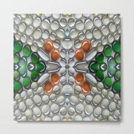 Terracotta Glass Bead Mosaic Metal Print