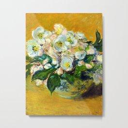 """Claude Monet """"Christmas Roses"""" Metal Print"""