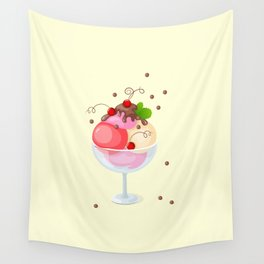 berry ice cream Wall Tapestry