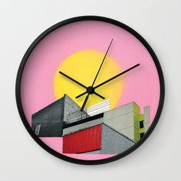 Neon Roof Top Wall Clock