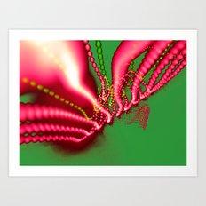 Pink N Green Art Print