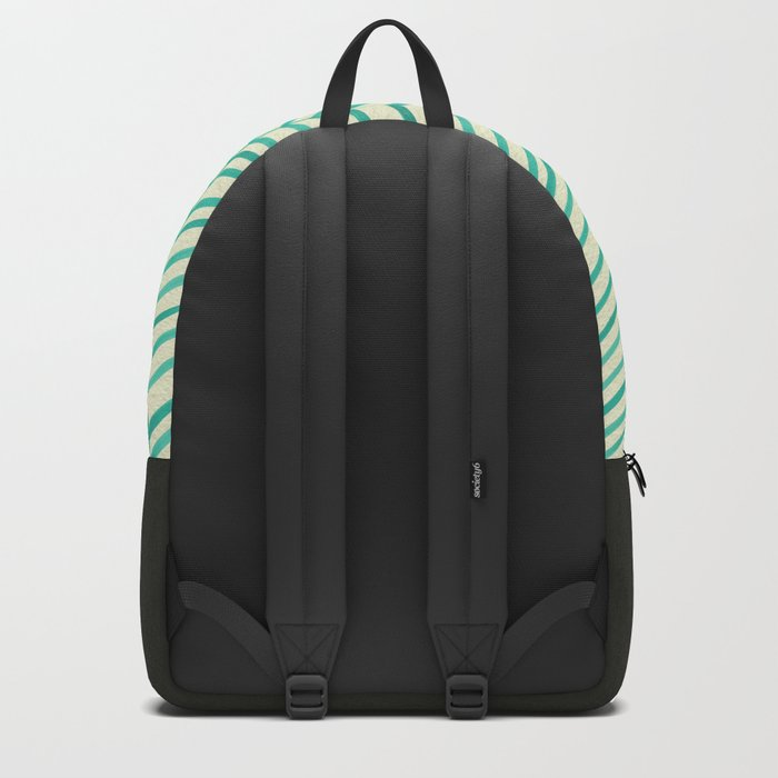Mint Herringbone Backpack