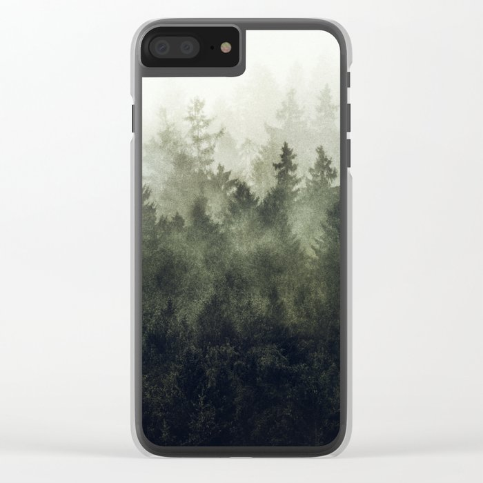 The Heart Of My Heart // Green Mountain Edit Clear iPhone Case