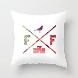 Flying Fortress (Experimental) Throw Pillow