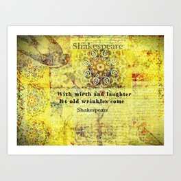 Shakespeare old age funny humorous quote Art Print