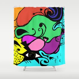Beauty is in the Eye of the Beholder (Color) Shower Curtain
