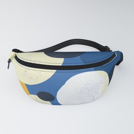 Scandi Style Textured Happy Pattern - blue & yellow Fanny Pack