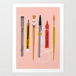 Pen Friends Art Print