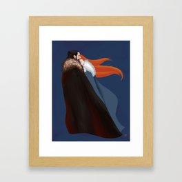 Facing the Night Together Framed Art Print