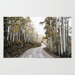 A Winding Autumn Road Rug