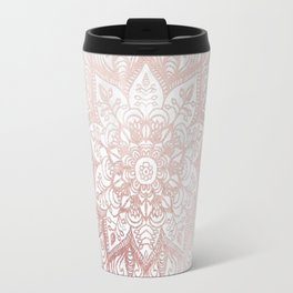Rose Gold Mandala Star Travel Mug