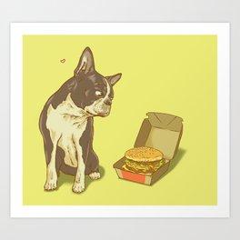 Mason + Big Mac = <3 Art Print