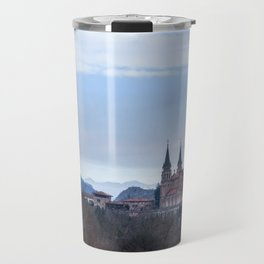 Basilica of Covadonga in the mountains, Spain Travel Mug