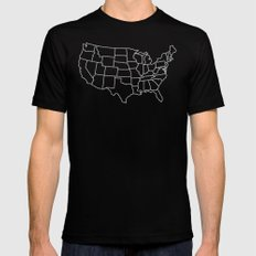 Ride Statewide - USA Mens Fitted Tee Black MEDIUM