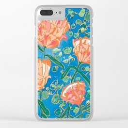 Four Orange Proteas Clear iPhone Case