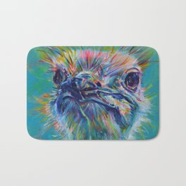 Ostrich with that look Bath Mat