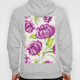 Purple Floral Wallpaper Abstract Design Hoody