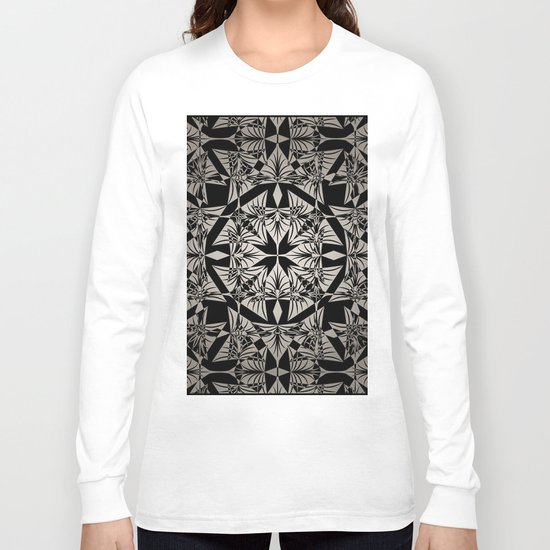 Art Deco 42 Black and gray ornament . Long Sleeve T-shirt