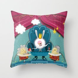 Monster pwale Throw Pillow