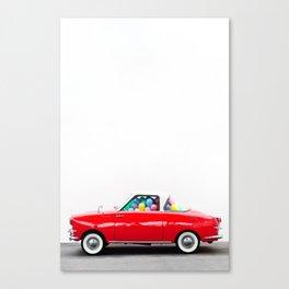 Balloon Car (Vertical) Canvas Print
