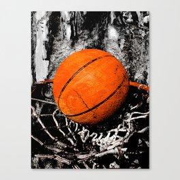 The basketball Canvas Print