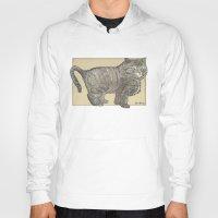 furry Hoodies featuring Furry Cat by Felis Simha