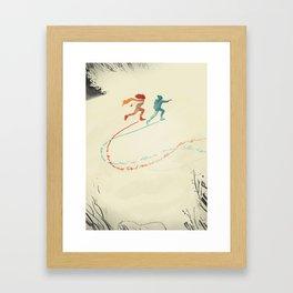 2015 Editorial illustration about: relationship. Framed Art Print