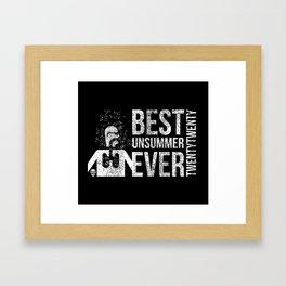 Best Unsummer Ever Mask Framed Art Print