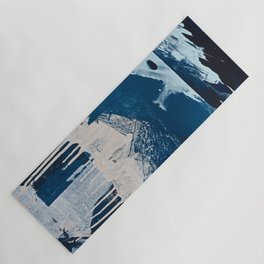 Solstice [3]: a minimal abstract mixed-media piece in blue and white by Alyssa Hamilton Art Yoga Mat