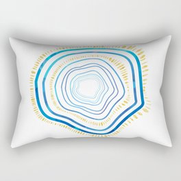 Tree Rings Collection: Navy and Gold Rectangular Pillow