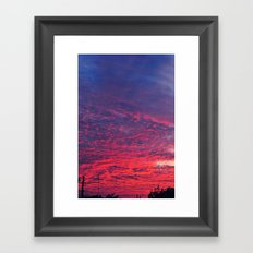 Bloody Sky Framed Art Print