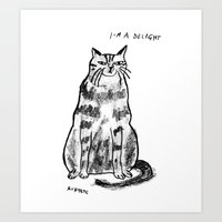 rubyetc Art Prints featuring I'm a delight by rubyetc