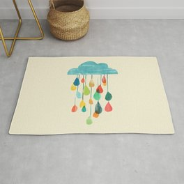 cloudy with a chance of rainbow Rug