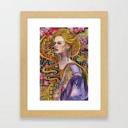 Waterfall of Flowers Framed Art Print