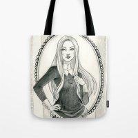 abigail larson Tote Bags featuring Abigail Larson by Shana Marie