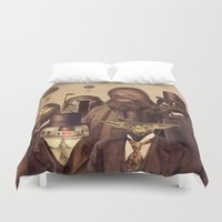 people Duvet Covers featuring Victorian Wars  by Terry Fan