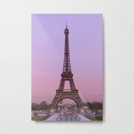 Eiffel Rose Metal Print