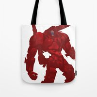 coyote Tote Bags featuring Coyote by ChrisLufthound